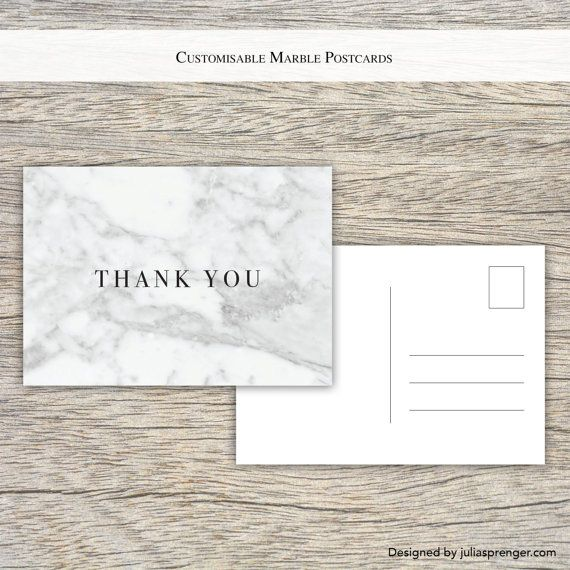 Fully Customisable White Marble Postcards