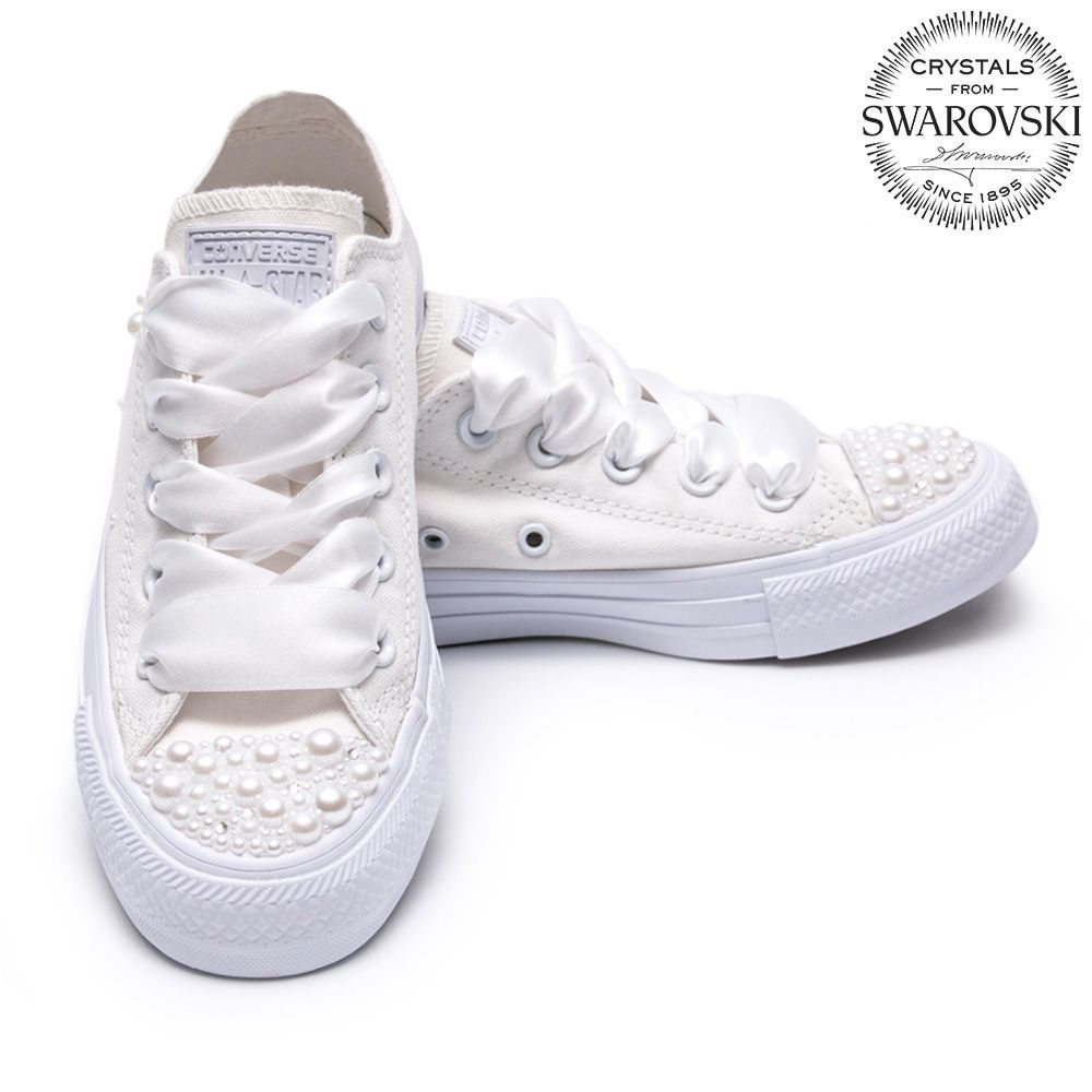 Converse Pearls Wedding edition be6cd51179c