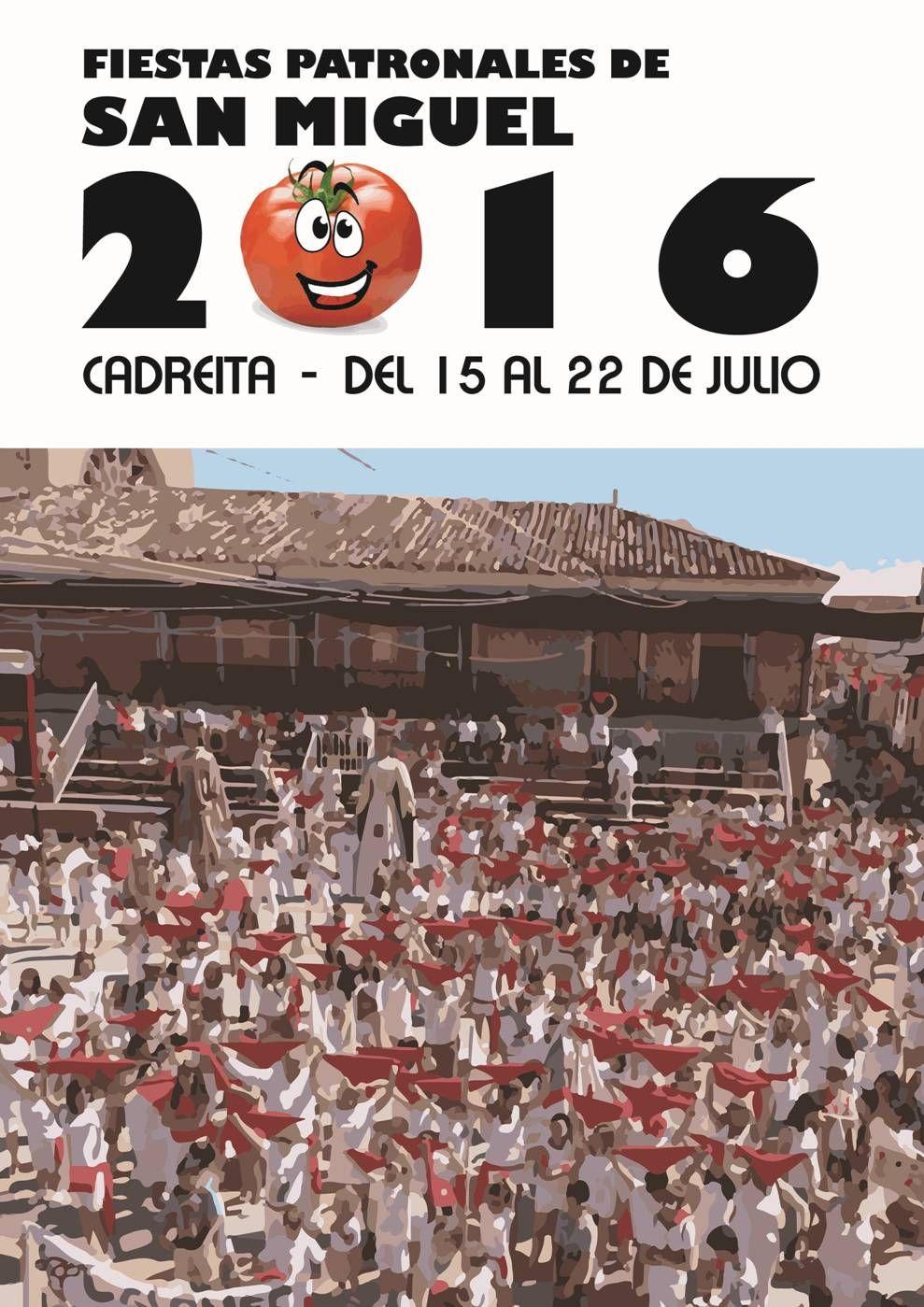 Resultado de imagen de cartel fiestas san miguel 2016