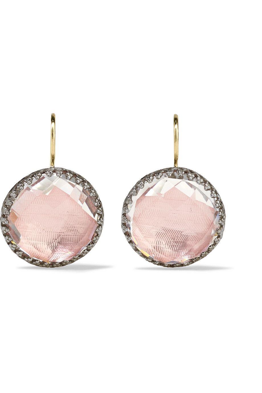 Olivia Rhodium-dipped Topaz Earrings - Gold Larkspur & Hawk NhdKHVL