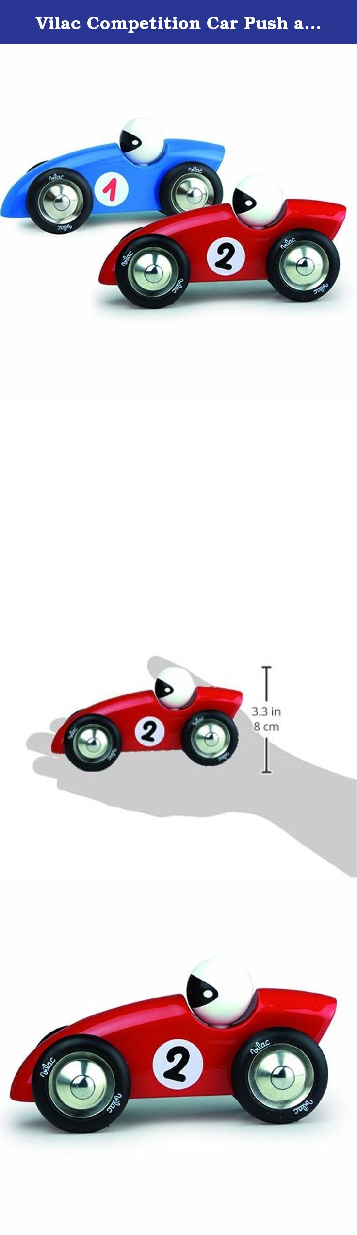 Toys car for baby  Vilac Competition Car Push and Pull Baby Toy Red Large Vilacus