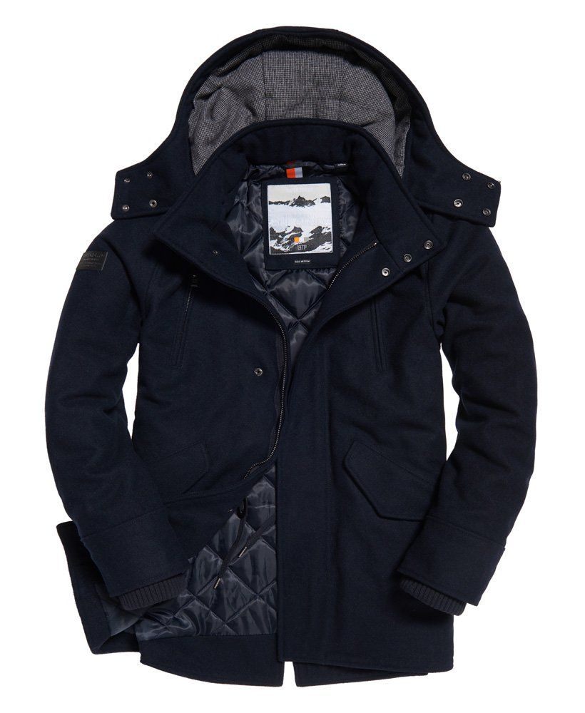 Superdry Glacial Hooded Wool Parka Jacket Mens Jackets Casual Casual Jacket Jackets [ 1000 x 820 Pixel ]