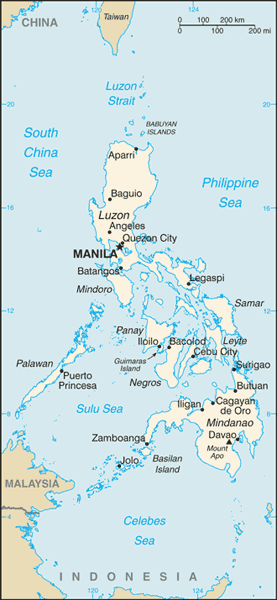 Philippines Political Map Social Studies Philippines Travel