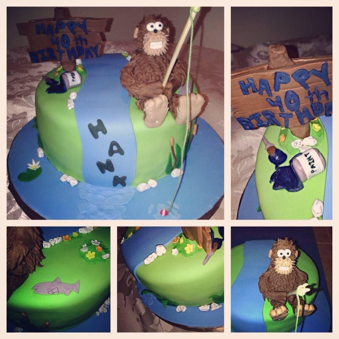 Sasquatch Bigfoot Birthday Cake