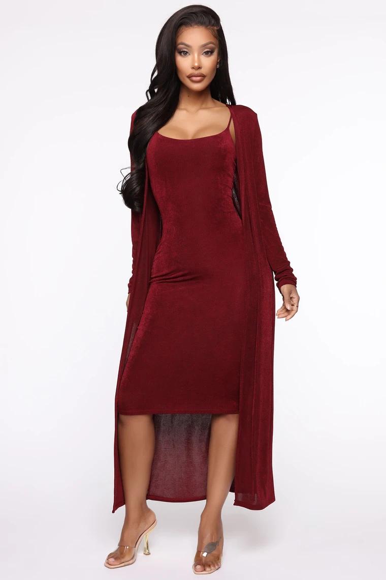 Sudden Chill Midi Dress Set Wine Set Dress Dresses Midi Dress [ 1140 x 760 Pixel ]