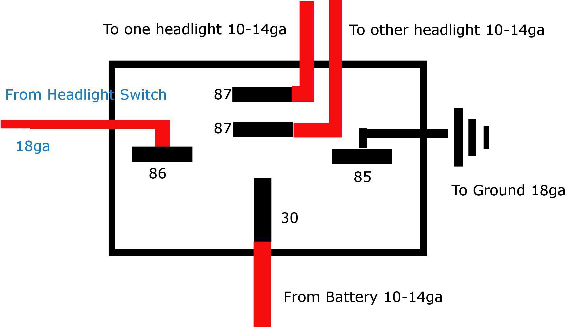 Bosch 5 Pin Relay Wiring Diagram | MC wiring | Pinterest