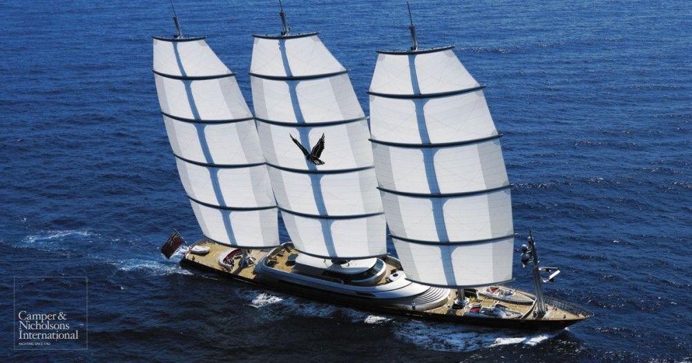 Maltese Falcon Yacht Charter Perini Navi Yachts Luxury Sail Yacht Moreplavanie Yahta Korabl