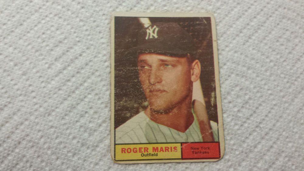 1961 topps new york yankees roger maris single baseball