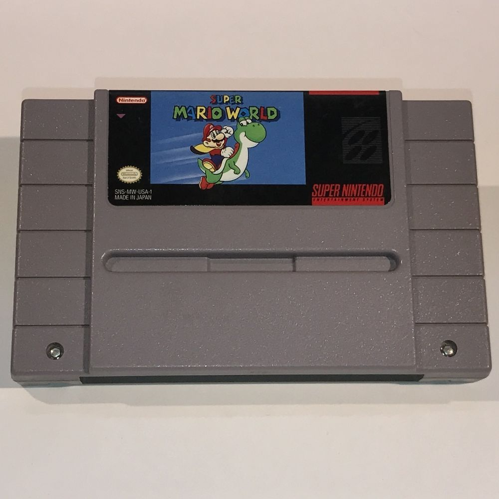 Snes Super Mario World Game Cartridge Only Nintendo Vintage 1992 45496830014 Ebay Super Mario World Game Super Mario World Super Mario