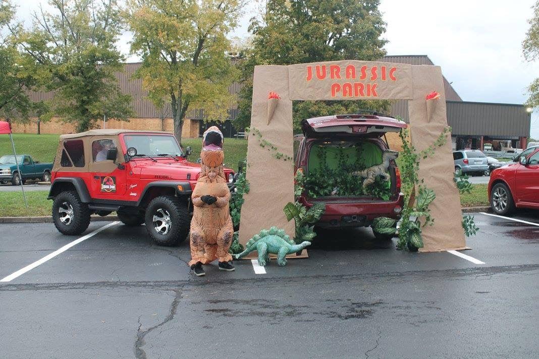 Jurassic trunk or treat #trunkortreatideasforcarsforchurch