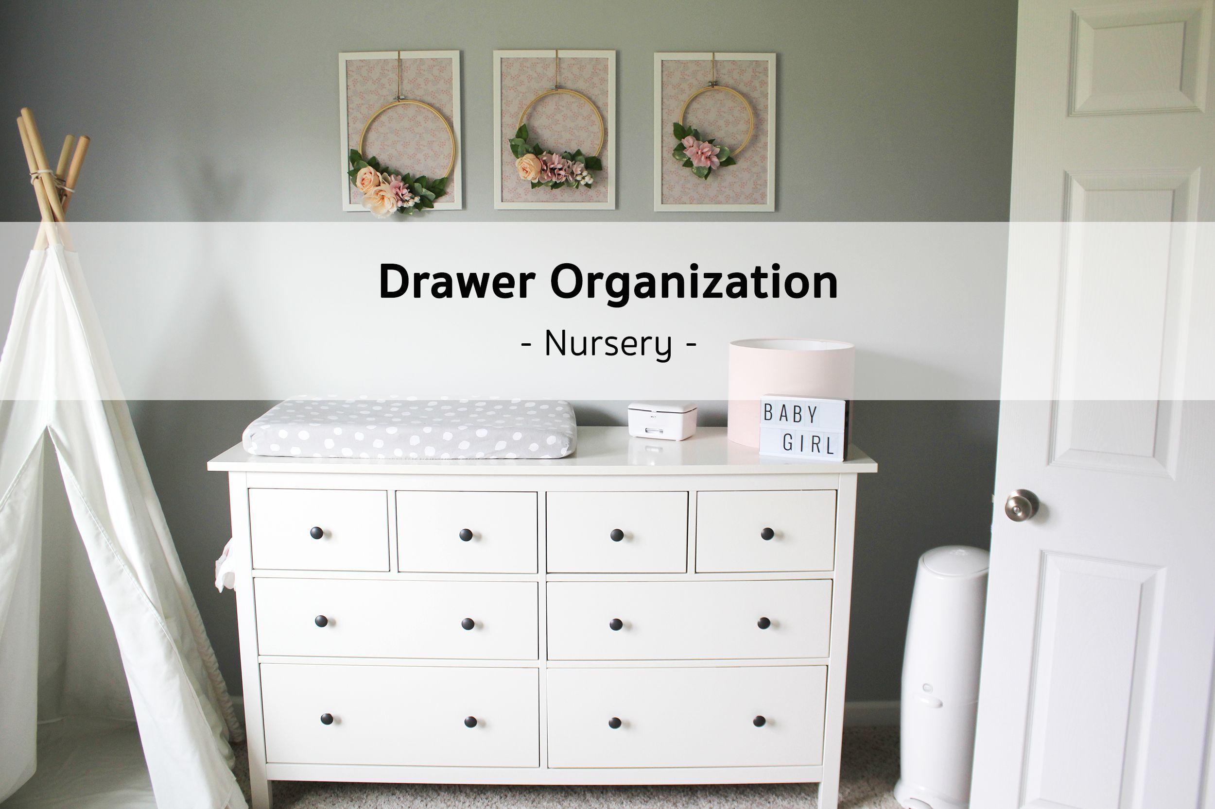 Ikea Hemnes Dresser Nursery Organization