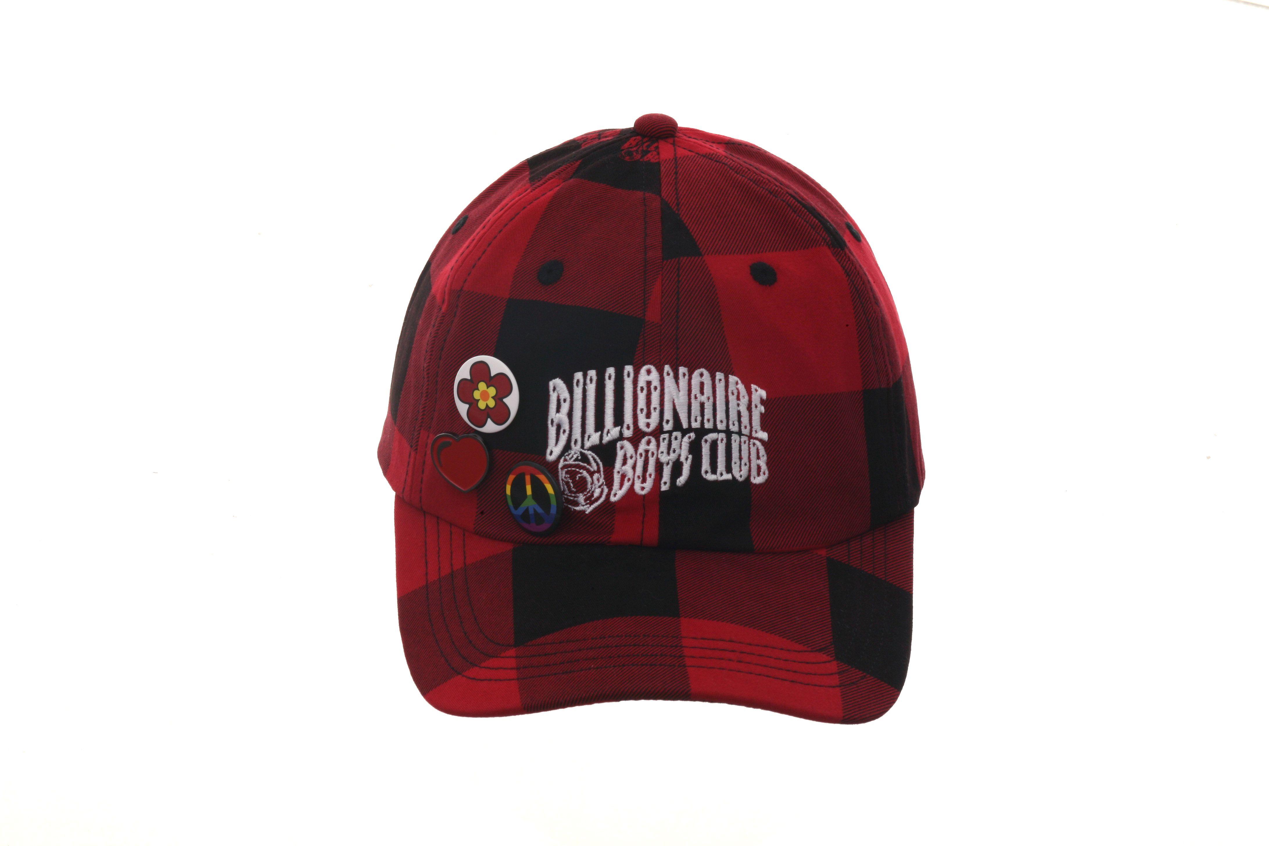 Billionaire Boys Club Checks Adjustable Hat Red Black Adjustable Hat Billionaire Boys Hats