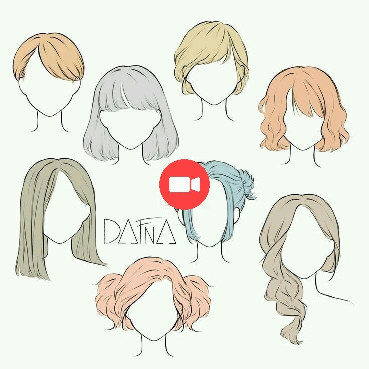 Hairstyle Drawing Collection Coiffure Dessin Tirage Des Cheveux Drawing Hair Tutorial How To Draw Hair Girl Hair Drawing