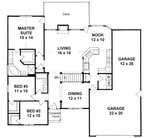Plan 1645 Garage Floor Plans Garage House Plans Ranch House Plans