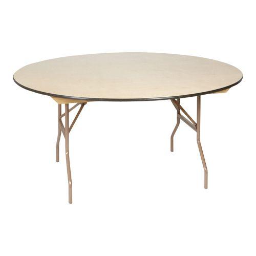"36"" Round - 60"" Round Folding Table:  $7.50"