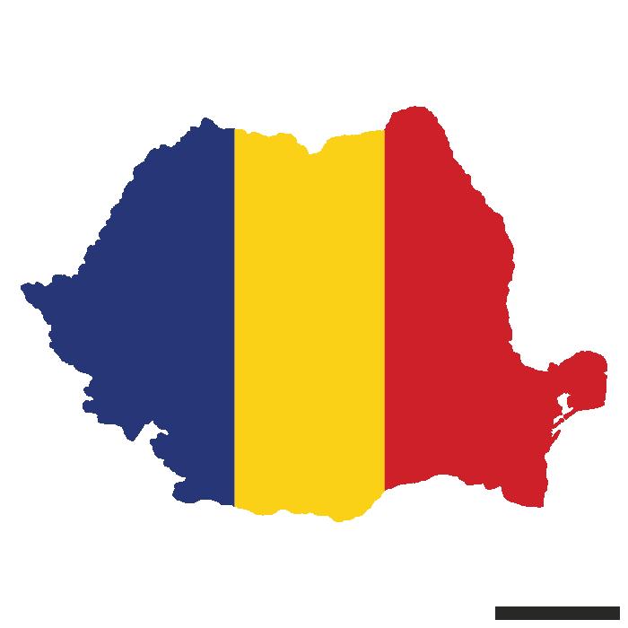 Flag Vector Map Of Romania Flag Vector Map Vector Romanian Flag