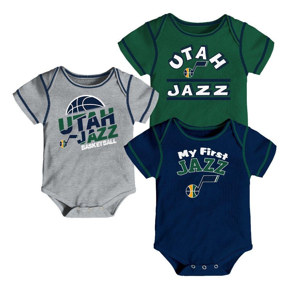 sports shoes d96e7 3e181 Utah Jazz Boys' Rookie 3pk Body Suit Set 0-3M   Tops in 2019 ...