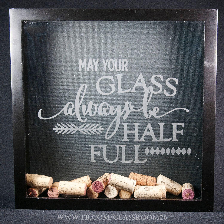 Wine Cork Shadow Box by Glassroom26 on Etsy