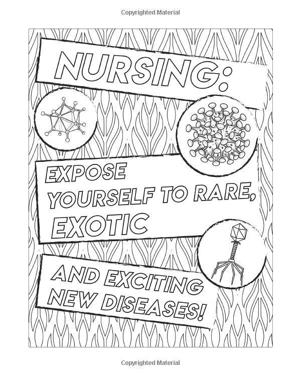 Nurse Coloring Book A Humorous Snarky Unique Adult Coloring