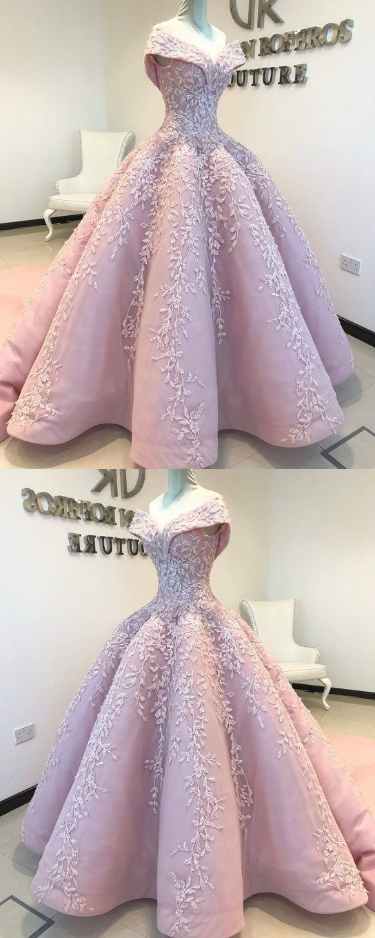 Ball Gown Off the Shoulder Lace Floor-Length Blush Pink Quinceanera Dress Sweet Dresses for Girls -   19 dress Quinceanera gold ideas