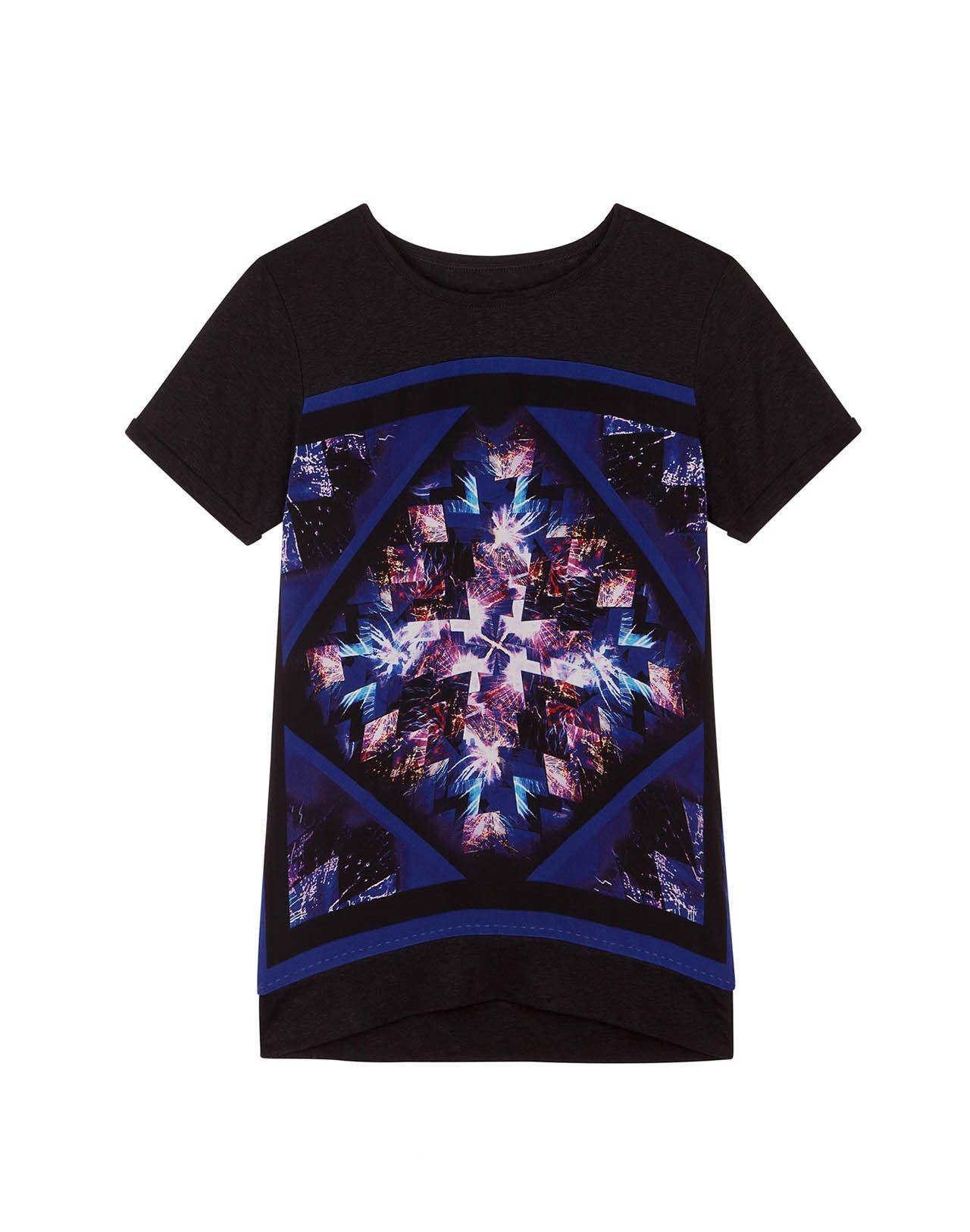 Geometric fireworks printed t-shirt // TINTAMARRE