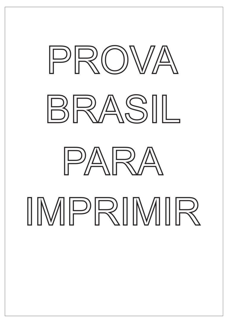 Simulado Prova Brasil Com Gabarito Provinha Brasil Descritores