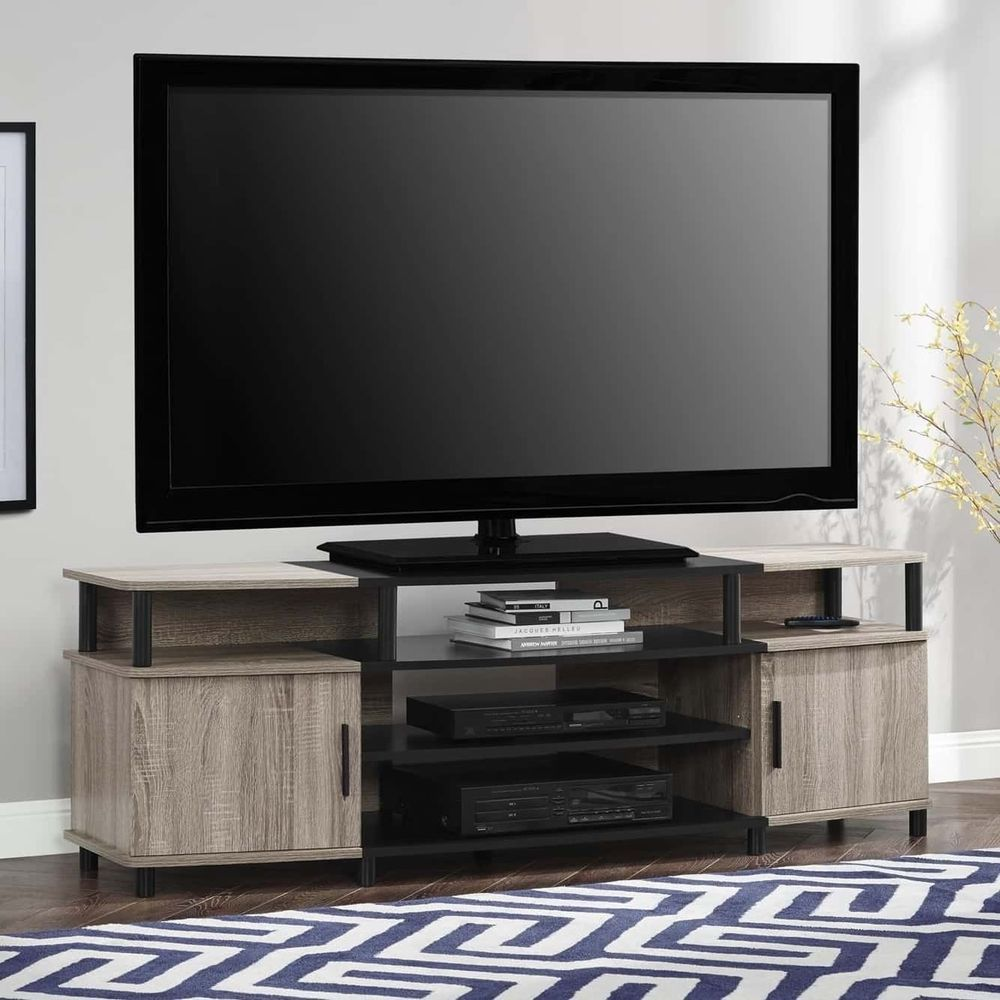 50 55 60 65 75 Flat Screens Tv Stand W Cabinets Dvds Game Consoles Controllers Flatscreenstvstand Tvstand 70 Inch Tv Stand Diy Tv Stand Flat Screen Tv Stand