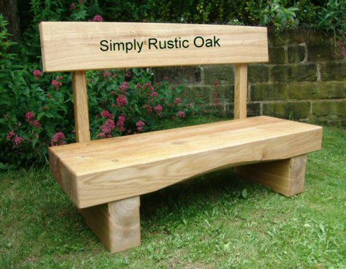 Fantastic Rustic Oak Arched Beam Garden Bench With Backrest In 2019 Machost Co Dining Chair Design Ideas Machostcouk