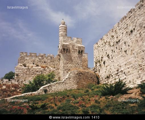 The Citadel And Walls Of Jerusalem (David's Tower) On Mount