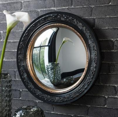 Madmoiselle Boutique Black Convex Mirror