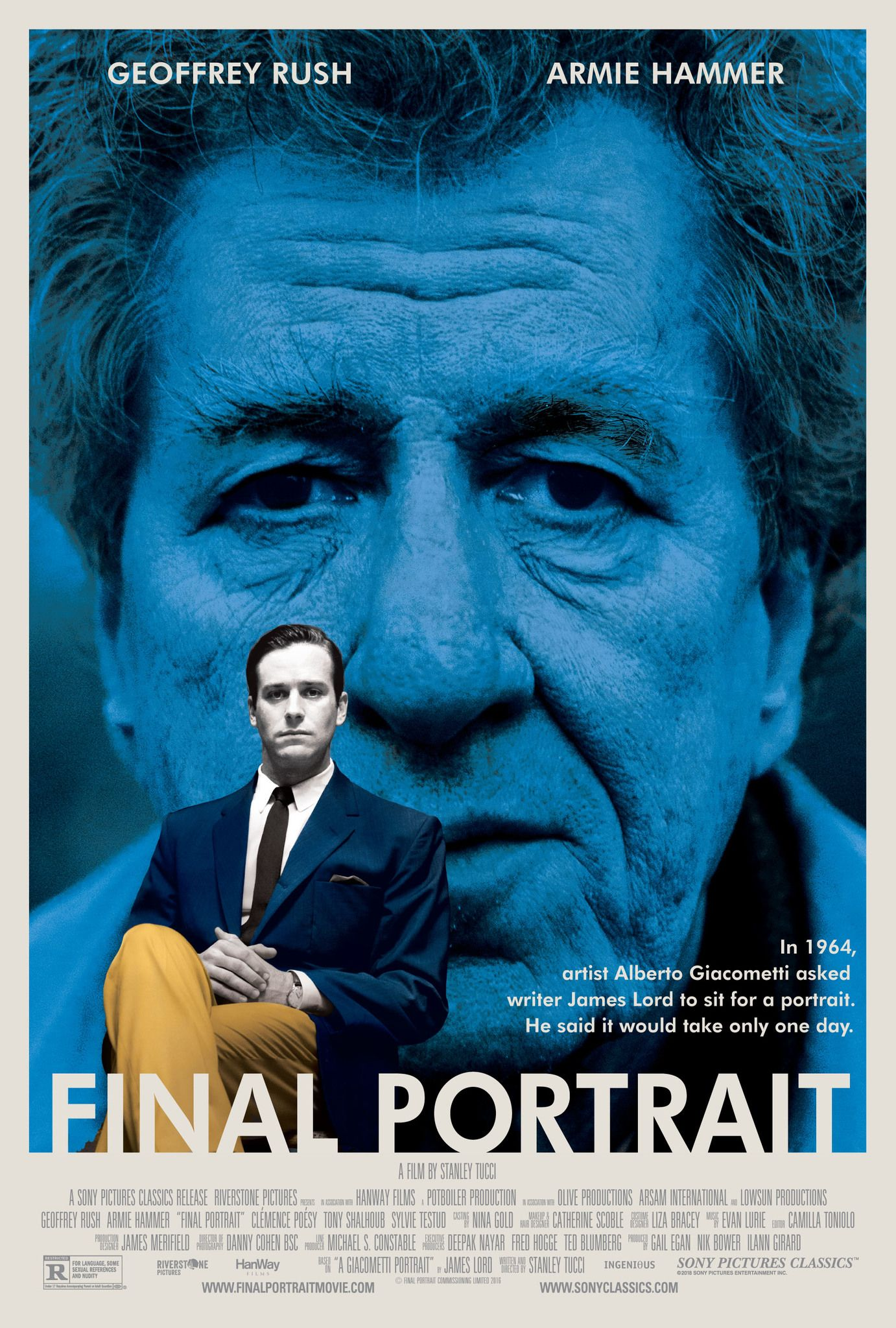 Final Portrait (2017) [1382 x 2048] | The Watched Movie ...