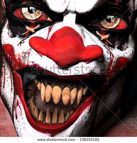 scarier clown close up clowns pinterest gruselig halloween und b se. Black Bedroom Furniture Sets. Home Design Ideas