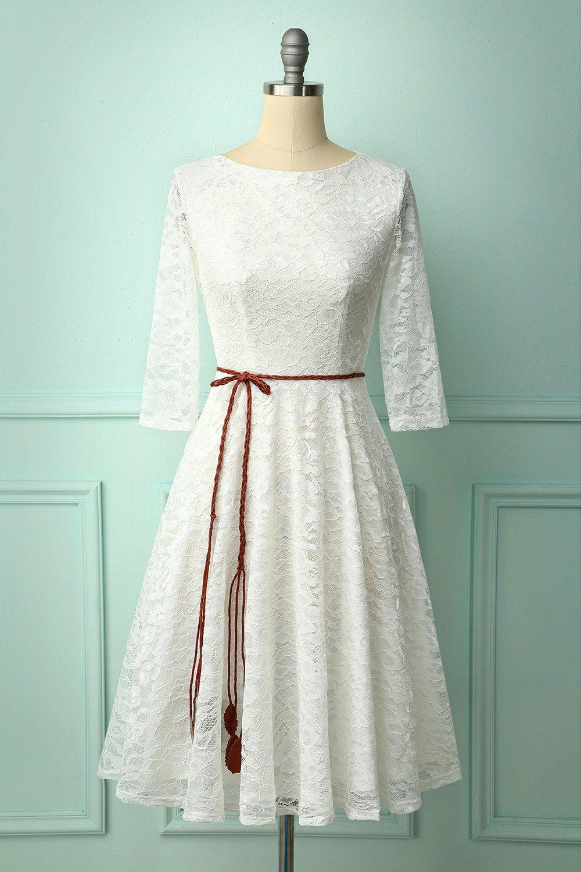 White Lace Midi Dress In 2021 White Lace Midi Dress Lace Midi Dress Long Sleeve Sequin Dress [ 1500 x 1000 Pixel ]