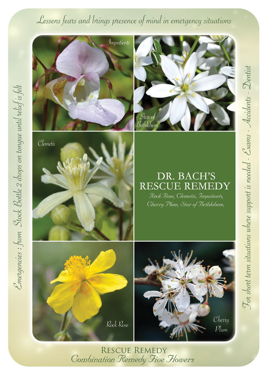 Bach Flower Remedies Dr Bach S Rescue Remedy Oracle Cards This Combination Of 5 Flower Essences Is For Emerg Bach Flowers Flower Remedy Bach Flower Remedies