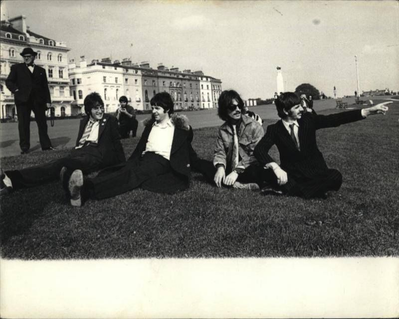 Beatles Sit in Grass Bank Above Plymouth Hoe? 1967 VINTAGE RARE ...