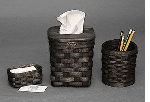 Accessories - black basket set for the office