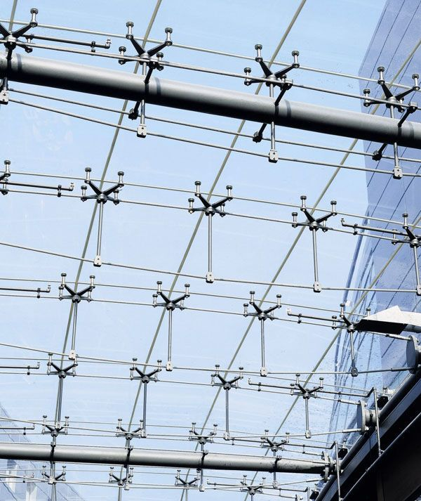 Tensile Structure Steel Cable By Hendrich Petschnigg Partner Mero Tsk Glass Building Glass Structure Steel Architecture