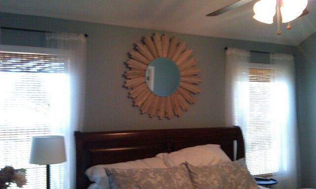 Diy starburst mirror made with wood shims