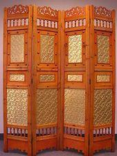Roman Shabby Room Divider Screen 4 Panel Wooden Frame ROOM DIVIDER
