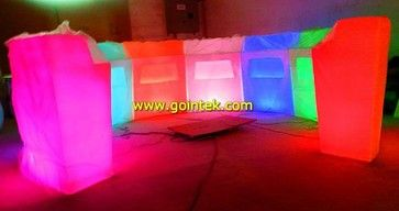 cheap led counters,led bar table,plastic bar counters for nightclub - modern - bar tables - other metro - www.gointek.com Led furniture supp...