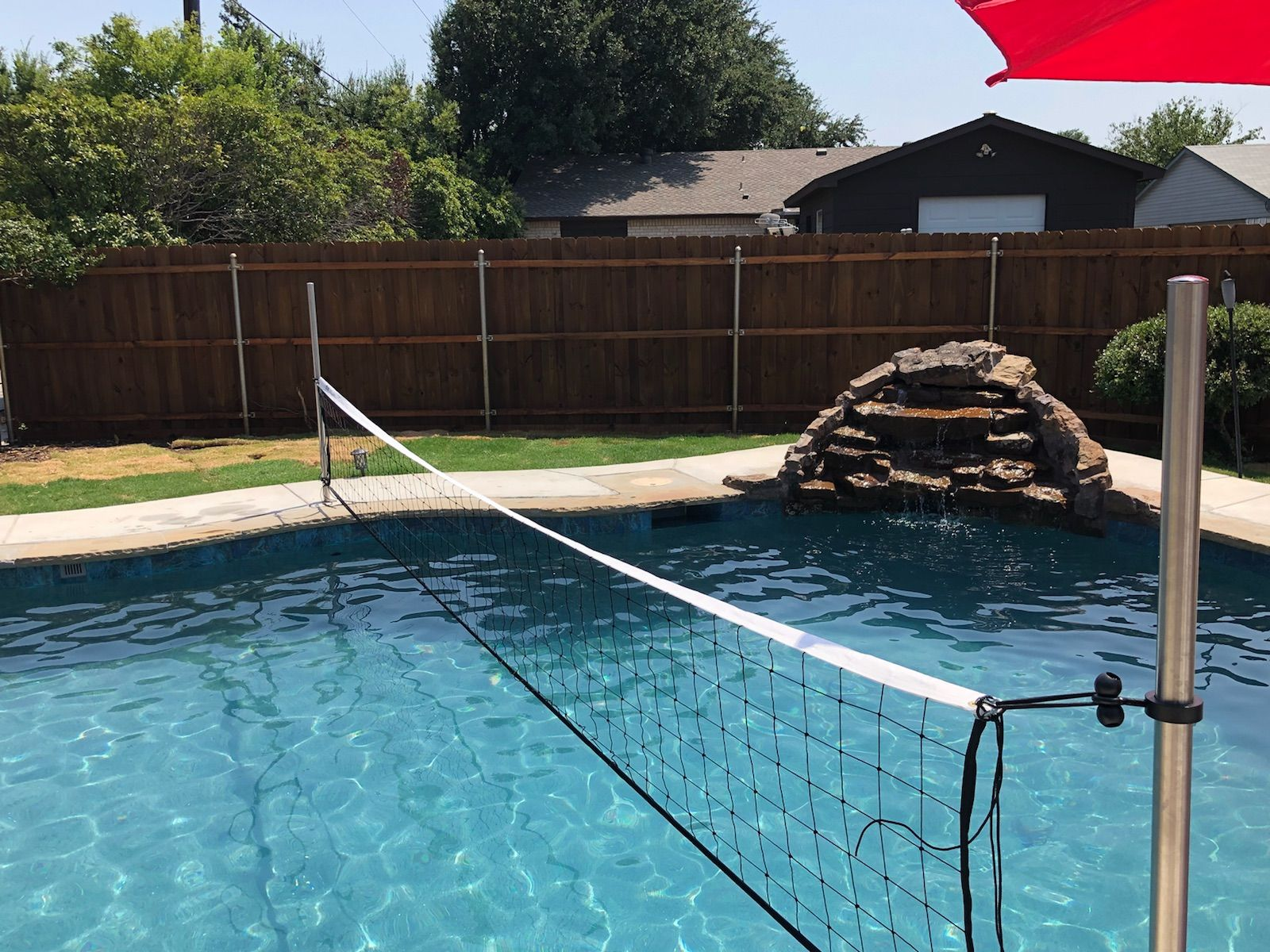 Commercial Grade Pool Volleyball Sets And Volleyball Nets Volleyball Pool Adjustable System Height Party Sets Commerc In 2020 Volleyball Set Pool Volleyball Nets