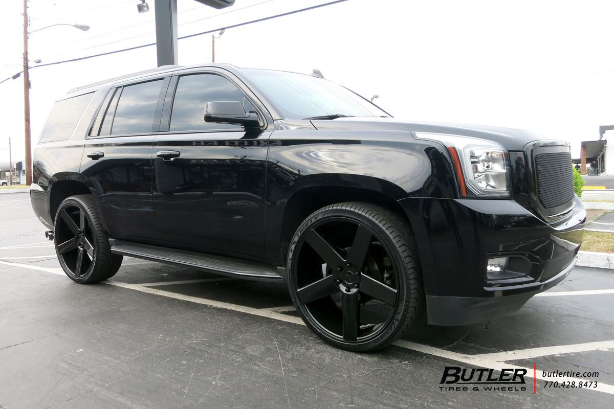 Black Yukon Denali Custom 26 Wheels Custom Black Grille Gmc