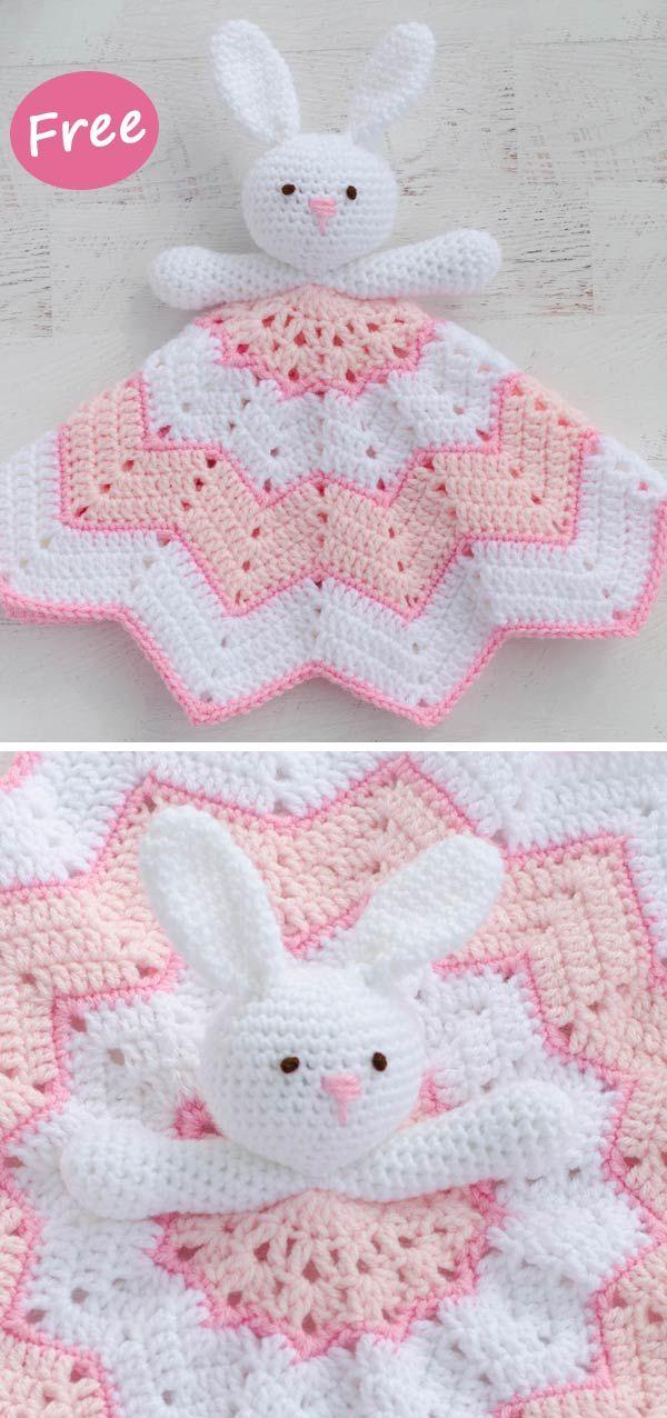 Round Ripple Bunny Lovey Crochet Free Pattern #freepattern