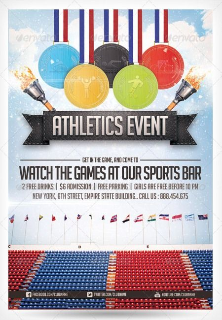 Athletics Sports Flyer Diseño Pinterest Flyer template - sports flyer template