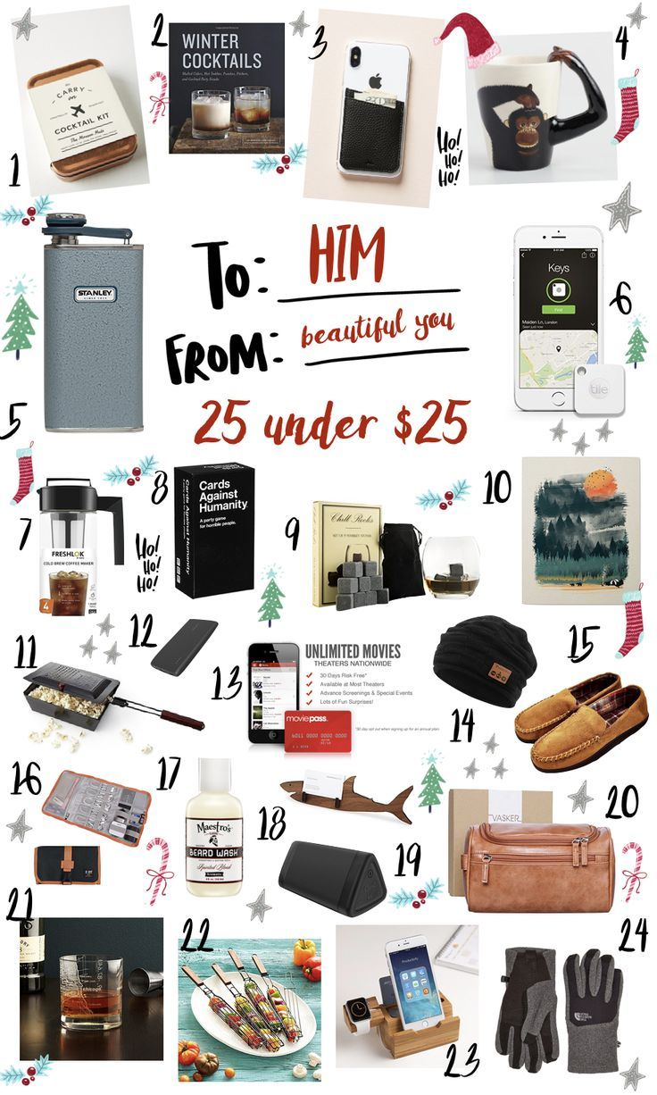 24 Gifts Under 25 For The Men In Your Life Christmas