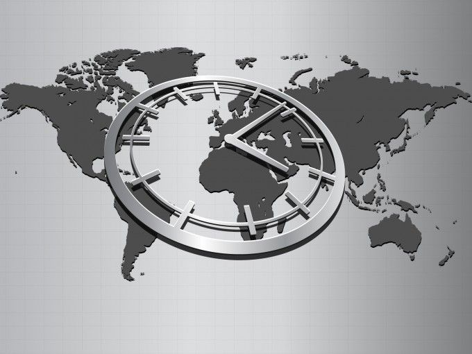 World map with clock powerpoint template for presentation world map with clock powerpoint template for presentation gumiabroncs Images