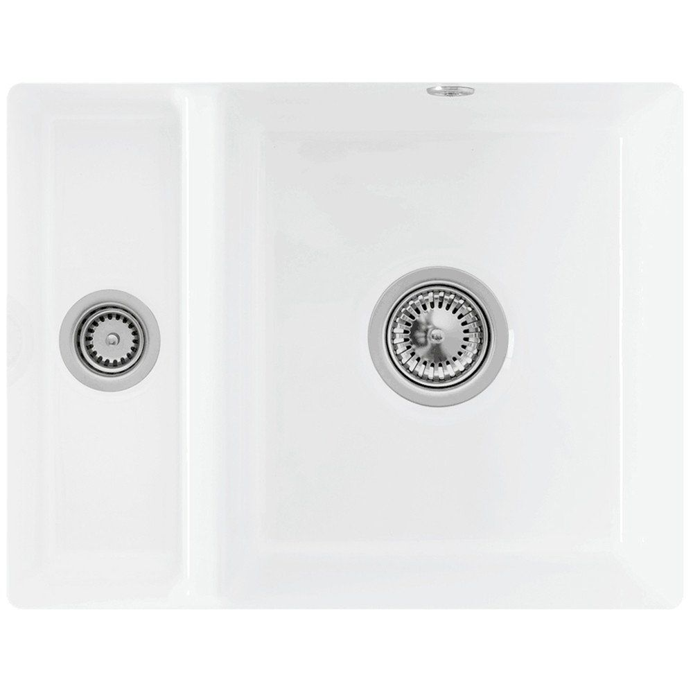 Villeroy & Boch Subway XU 1.5 Bowl White Ceramic Undermount Kitchen ...
