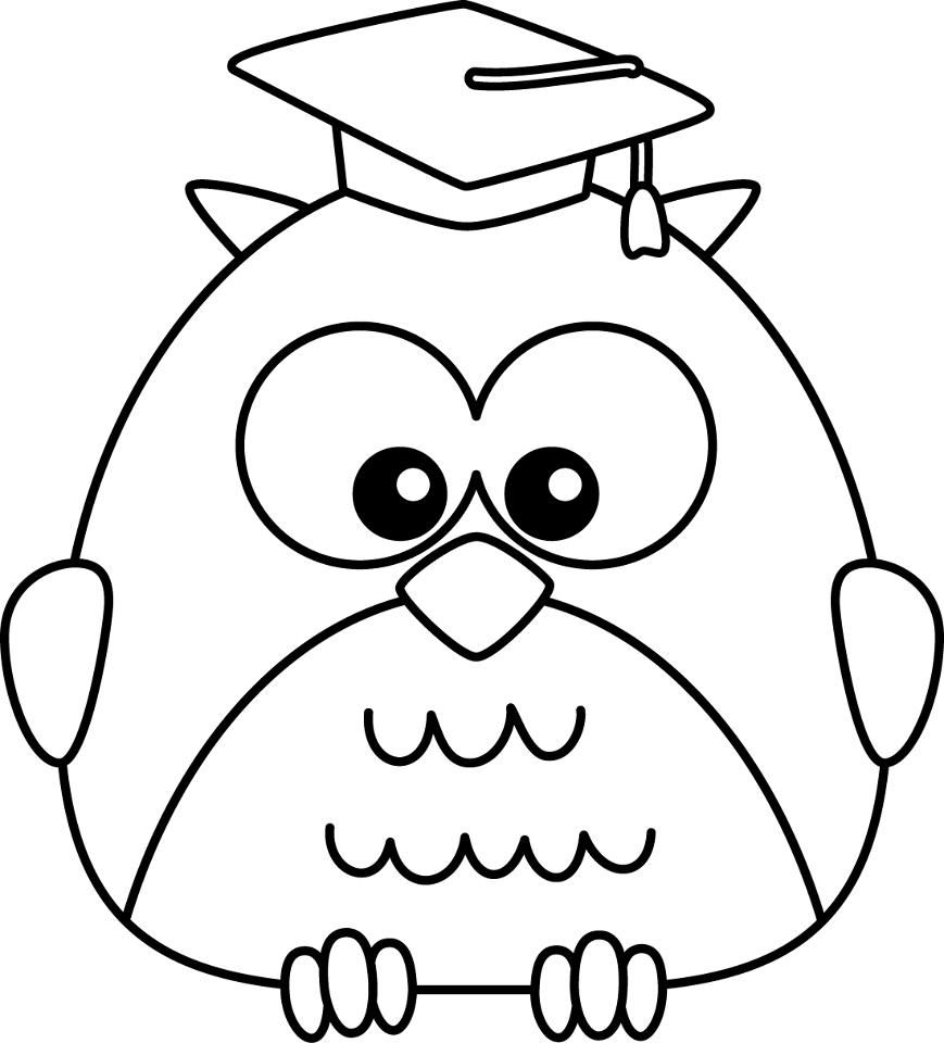 Happy Owl Coloring Page  Audrey Birthdays  Pinterest  Coloring