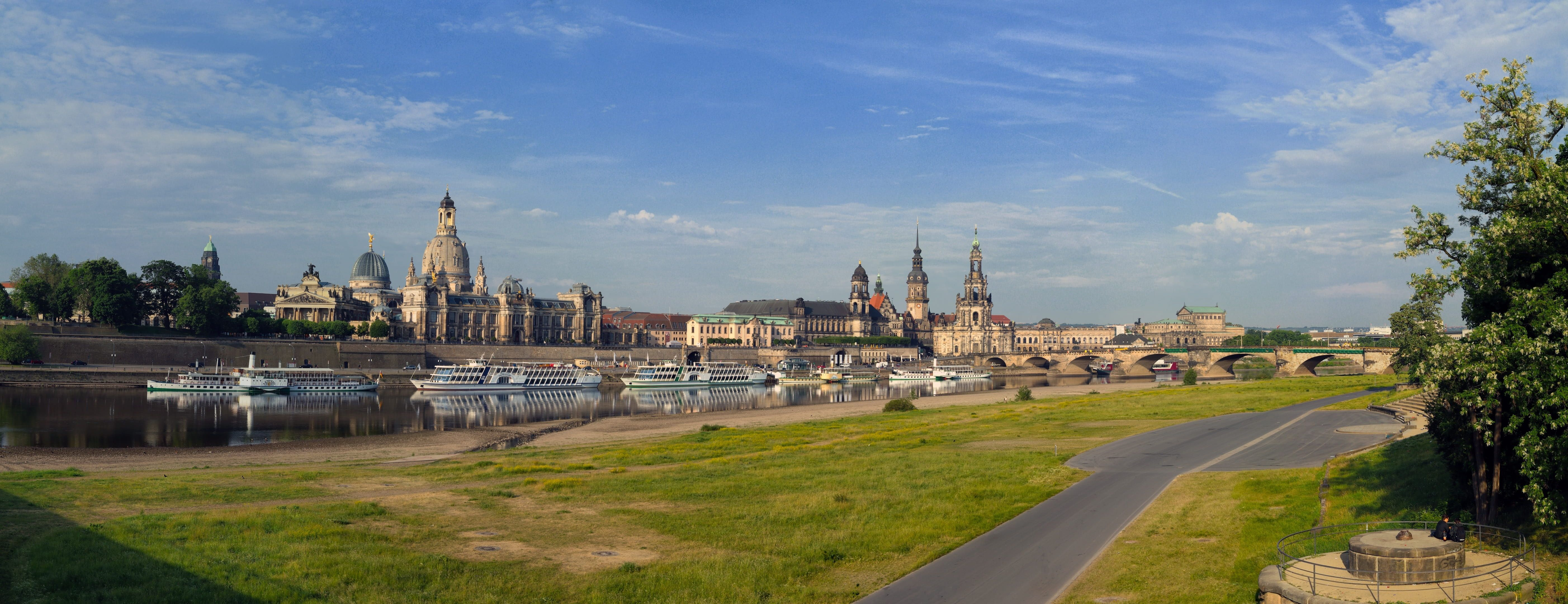 Boats On Body Of Water During Daytime Dresden Elbe Panorama Saxony River Steamer Elbpanorama Old Town Architecture Ship King Ri Panorama Daytime Water