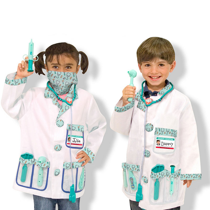 Melissa Doug Doctor Role Play Costume Set Doctor Costume